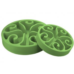Eat Slow Small Green - zpomalovací miska - zelená