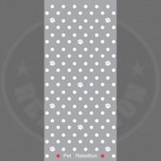 PET REBELLION- Běhoun, MSH, puntíkovaný šedý 45 x 100cm