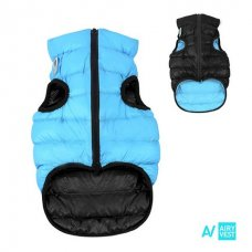 AIRY VEST bunda pro psy černá/modrá XS 25