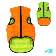 AIRY VEST bunda pro psy oranžová/zelená XS 22