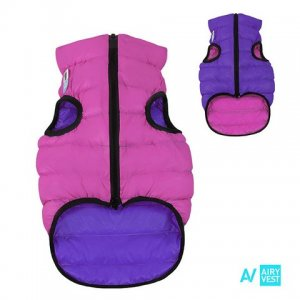 AIRY VEST bunda pro psy růžová/fialová XS 22