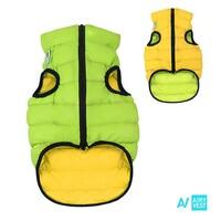 AIRY VEST bunda pro psy žlutá/zelená XS 25