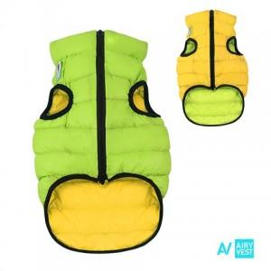 AIRY VEST bunda pro psy žlutá/zelená XS 22