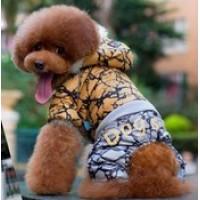 Kombinéza pro psy DogsLife STONE L 30-35cm/14 - šusťáková, prošívaná - žlutá