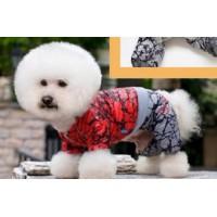 Kombinéza pro psy DogsLife STONE XS 17-20cm/8 - šusťáková s kapucou - červená