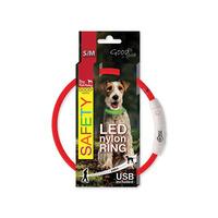 Obojek DOG FANTASY světelný USB 45 cm - různé barvy - NOVÝ