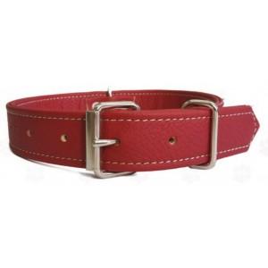Obojek pro psa Argi kožený červený - 1,5 x 37 cm