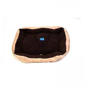 Béžovohnědý psí pelech - 75x58 cm