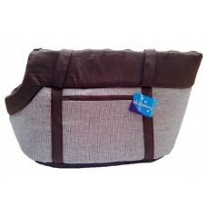 Hnědá přepravní taška - 45x29 cm