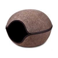 Kukaň-Pelíšek variabilní - vchod střed 46x46x32.5cm-Hnědá
