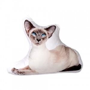 Polštářek 3D Pets - Siamská kočka, vel. S (cca 37cm)