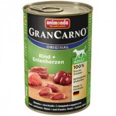 Animonda GRANCARNO konzerva ADULT hovězí/kachní srdce 400g