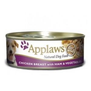 Applaws konzerva Dog kuře, šunka a zelenina 156g