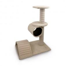 Škrabadlo pro kočky Argi - Becca - béžové - 80 x 40 x 60 cm
